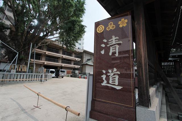 櫛田神社の清道入口