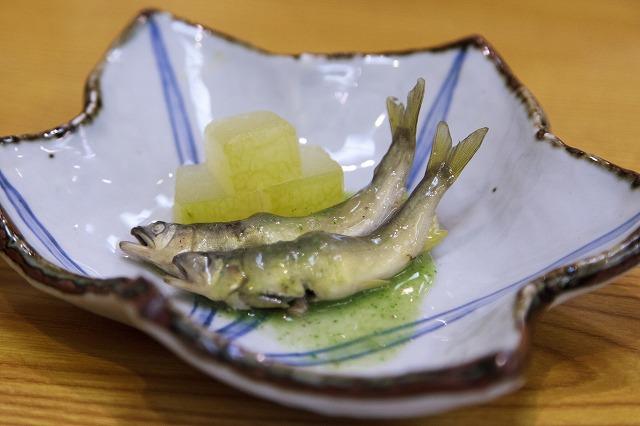 滋賀の稚鮎と冬瓜の吉野蒸
