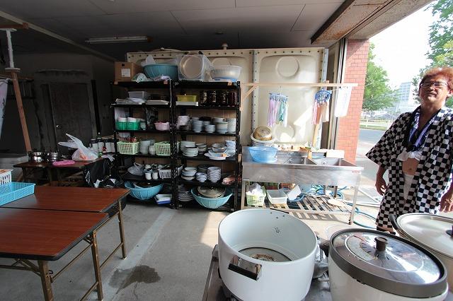 大黒流 すノ2詰所 「ごりょんさん」の調理場