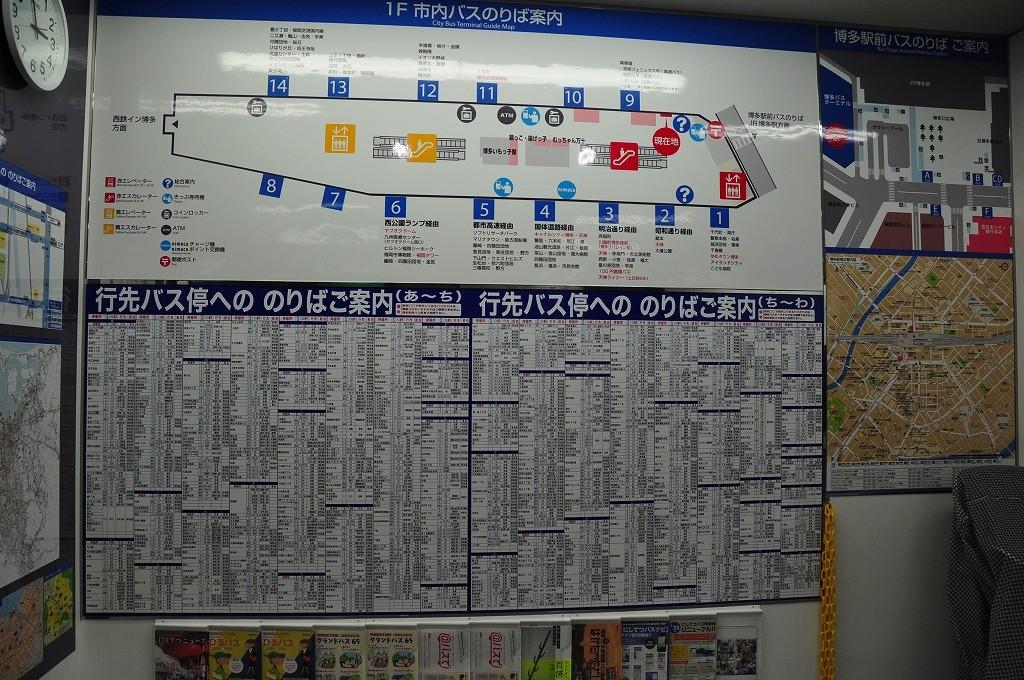 バスの乗り場図