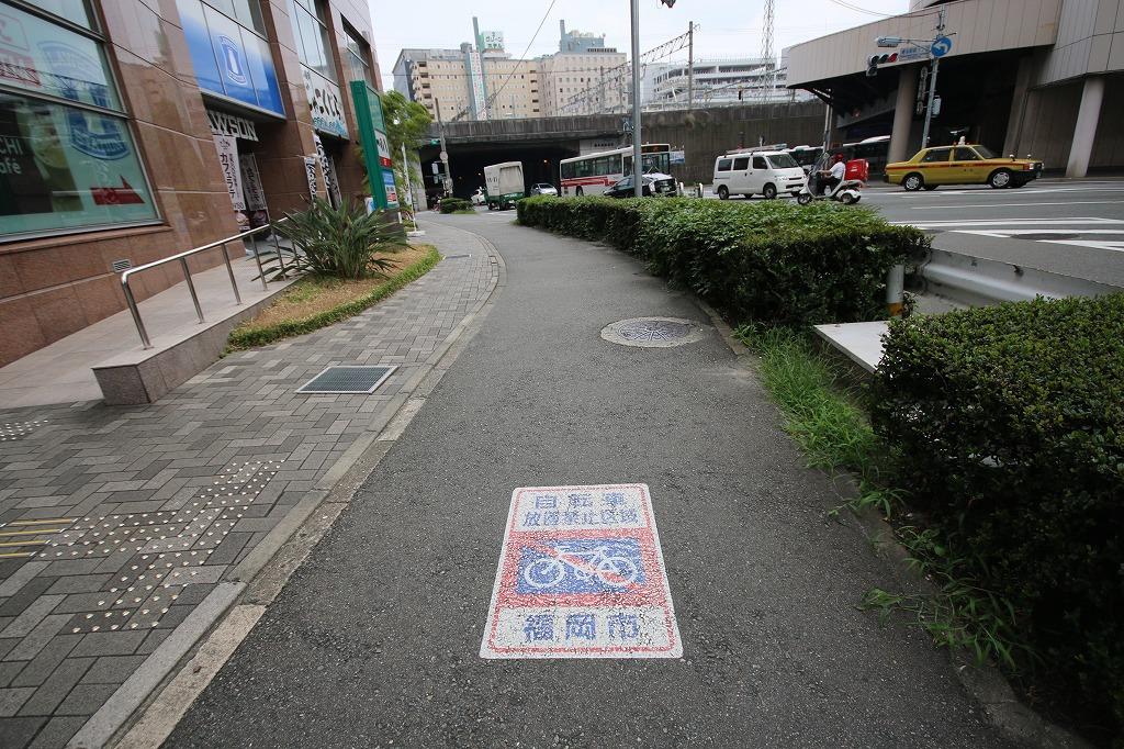 福岡市内の自転車放置禁止区域マーク